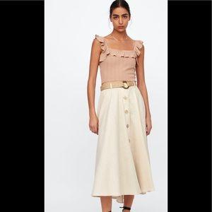 Zara Rustic Linen Skirt